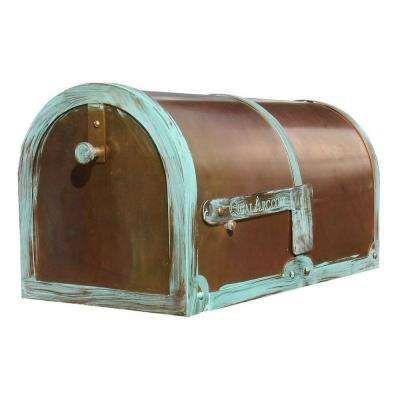 Antiqued Patina Post Mount Non Locking Mailbox Mounted Mailbox Post Mount Post Box Wall Mounted