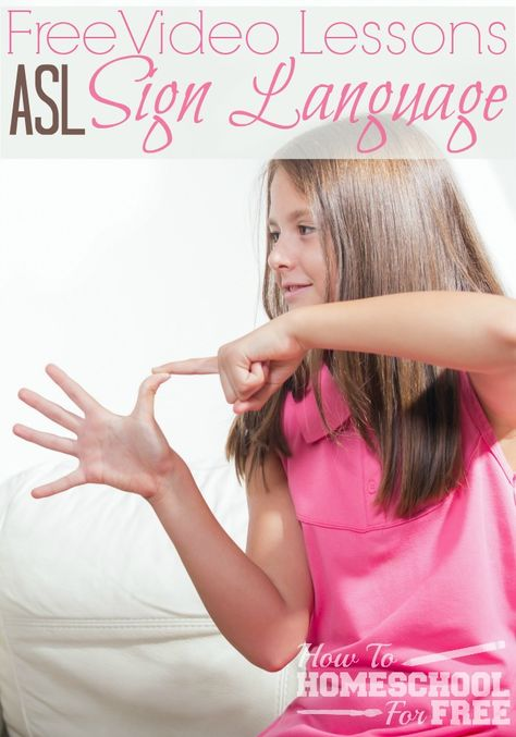 Learn ASL with these FREE video lessons!