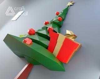 Diy Christmas Tree Papercraft Pdf Template Paperblog Paper Tree Paper Crafts Diy Christmas Tree