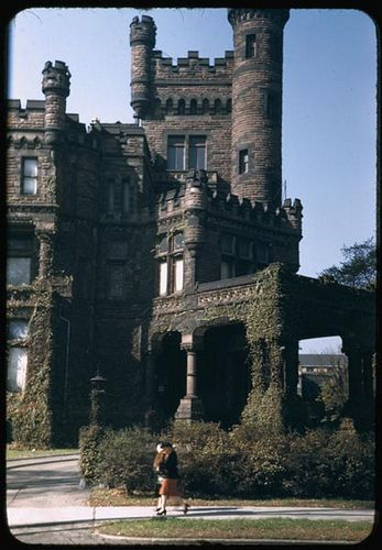 ༺♥༻@>~Awesome~<@༺♥༻ Potter (& Bertha) Palmer's castle, at the corner of Michigan Ave. and Oak St. - Chicago.