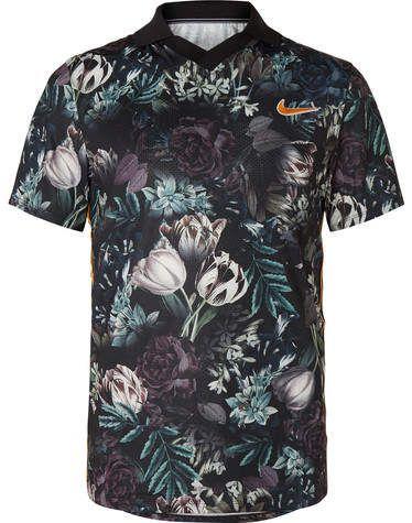 Nike Tennis Nikecourt Slam Striped Floral Print Dri Fit Tennis Polo Shirt Tennis Shirts Tennis Polo Nike Tennis