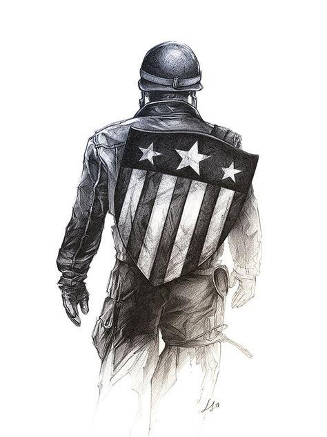 Captain America / Digital Printing / Unique Gift / Birthday / Gift Birthday / Original Art / Child Poster / Salon Decoration