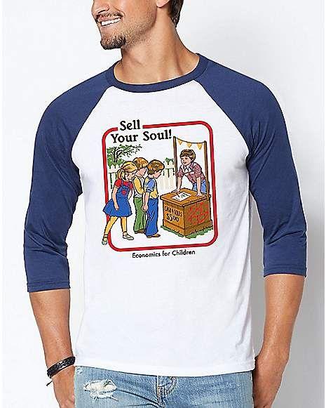 8decdee9 Raglan Sell Your Soul T Shirt - Steven Rhodes - Spencer's | Tops #2 ...