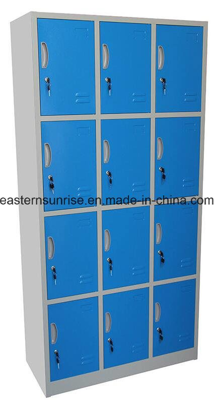 China Factory Supply 12 Door Metal Gym Lockers Wardrobe