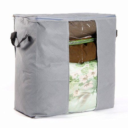 Foldable Clothes Quilt Sweater Blanket Pillows Storage Bag Organizer Zipper Box