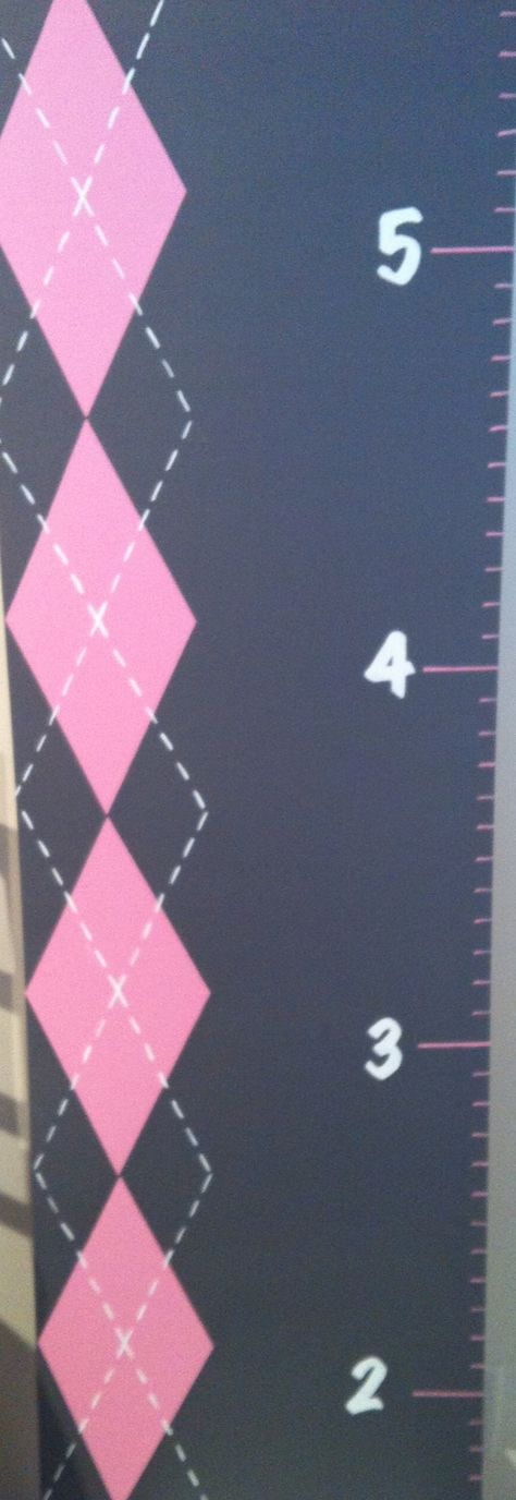 Pink Argyle Growth chart  Growingmonsters@gmail.com