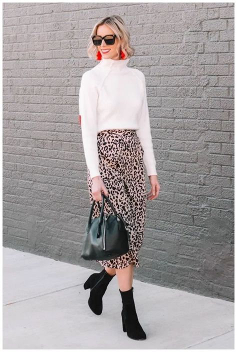 40+ Cool Ways To Style A Leopard Satin Skirt » Educabit