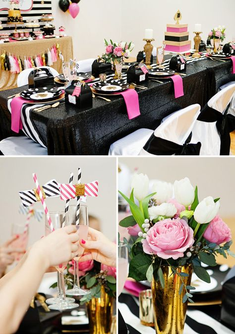 Glitzy & GLAMorous Kate Spade Inspired Pool Party // Hostess with the Mostess®
