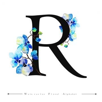 R Alphabet Letter Watercolor Floral Background Letter A Clipart Watercolor Color Png And Vector With Transparent Background For Free Download Lettering Alphabet Floral Watercolor Floral Background