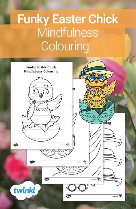 Get creative this Easter with our funky Easter chick colouring template! Children can choose to colour a mindfulness chick template or use the blank Easter chick outline to create their own mindfulness patterns. The pack also includes a set of cut-out props to personalise each picture! Click to download and discover more Easter crafts over on the Twinkl website. #easter #easterchick #eastercrafts #colouring #craftsforkids #parents #homelearning #homeeducation #twinkl #twinklresources #papercraft