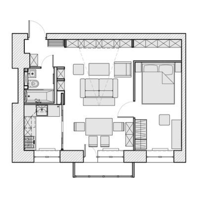 House Plans 500 To 600 Square Feet Small House Plans House Floor Plans House Plans