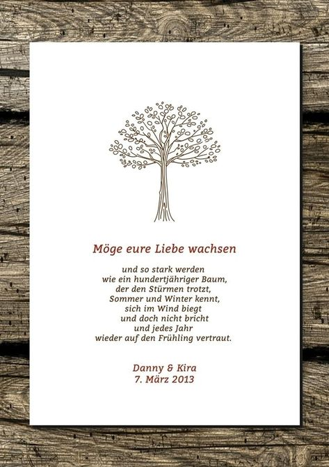 Wall decoration  print / mural / print: blessing wish (wedding)