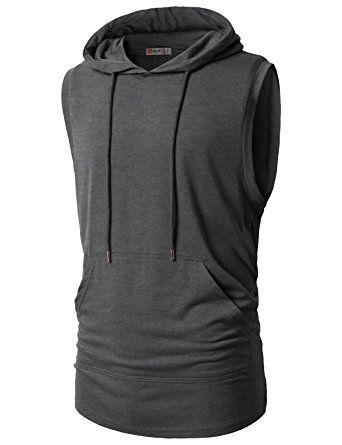 Mens Casual Hipster Hip Hop Sleeveless Hoodie Sweatshirt Vest Tank Top
