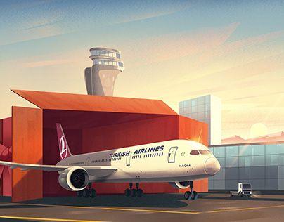Turkish Airlines Illustrations Illustration Turkish Airlines Illustration Artwork
