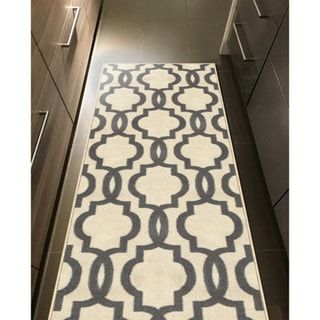 Fancy Moroccan Trellis Non Slip Runner Rug Rubber Backed 1 39 8 X 4 39 11 Overstock Com Shopping The Best Deals On Ru Moroccan Trellis Rugs Cool Rugs