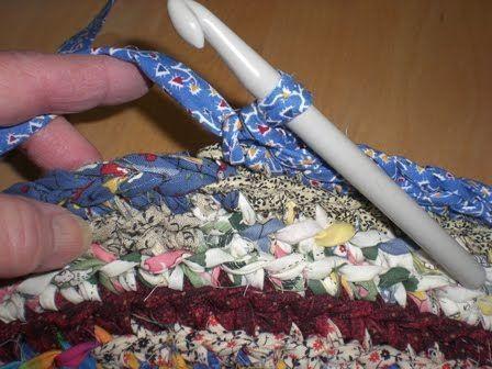 A Home Grown Journal Crocheted Rag Rug Tutorial More Crochet Rag Rug Rag Rug Tutorial Braided Rug Diy