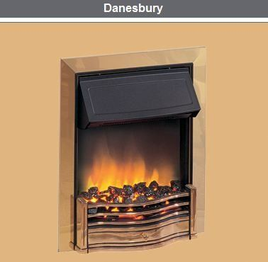 Dimplex Danesbury Optiflame Chrome Inset Electric Fire Inset
