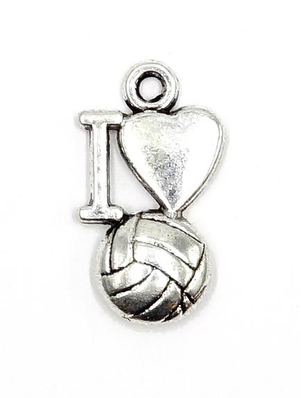 I Love Volleyball Charm My Love Charmed Volleyball