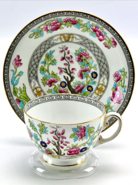 1923-34 Aynsley Indian Tree Chrysanthemum Teacup Saucer