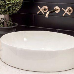 K T14413 4 Purist Wall Mount Sink Faucet Trim Lever Handles Kohler Sink Faucets Wall Mount Faucet Bathroom Sink Wall Mounted Bathroom Sinks
