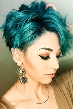 10 Stylish Messy Short Hair Cuts: Attractive Women Short Hairstyles - Love this Hair (bobs for curly hair mom)