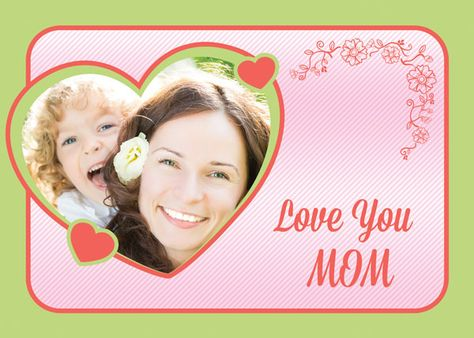 Free Custom Photo Mother S Day Cards Psd Templates Mothers Day Card Template Personalised Photo Cards Card Template