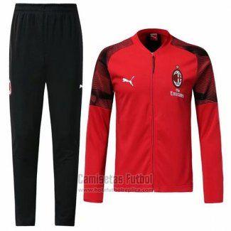 bce134b16f33 Chandal del AC Milan N98 2019-2020 Rojo | casual en 2019 | Ac milan ...