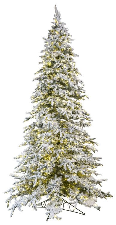 12 Flocked Balsam Pine Tree Christmas Tree Balsam Christmas Tree Artificial Christmas Tree