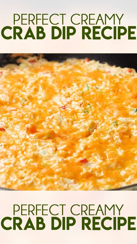 Best Crab Dip is creamy, cheesy, and packed full of so much flavor!  This dip recipe can be baked or served cold and is always a crowd favorite! #thesaltymarshmallow #footballfood #tailgate #bestcrabdip
