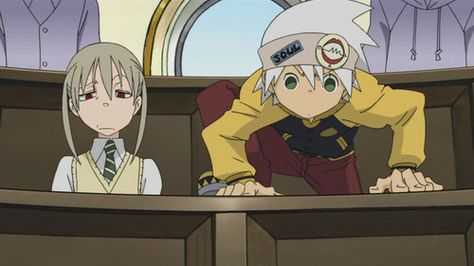 I had to stare at this for a minute before I realized their faces were switched... Lol XD Soul Eater - Soul and Maka