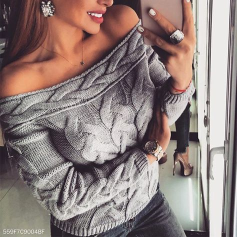 Sexy Off Shoulder Long Sleeve Plain Knitting Sweaters – sweaters for women,sweaters outfits,cute sweaters,sweaters for fall school outfits,sweaters for fall 2019,sweaters for women fall,sweaters for women cute,sweaters street style #sweaters #sweatersforfall #sweatersforfallcasual #pulloversweatersforfall #cutesweatersforfall #comfysweatersforfall #sweatersforwomen #sweatersoutfits #cutesweaters #wintersweaters #falloutfitsforschool #ebuychic