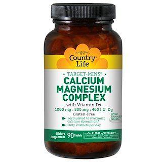 Country Life Calcium Magnesium Complex With Vitamin D3 90 Tablets In 2020 Country Life Vitamins Calcium Magnesium Chelated Magnesium