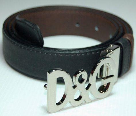 12f83c4f49 Dolce and Gabbana Leather Belt 90s D&G Belt Leather Belt