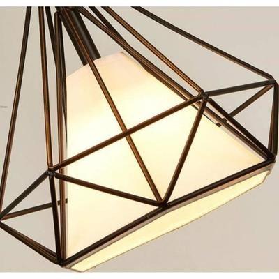 Suspension Cage Forme Diamant Contemporain 25cm 110 221v