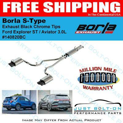 borla s type exhaust black chrome tips