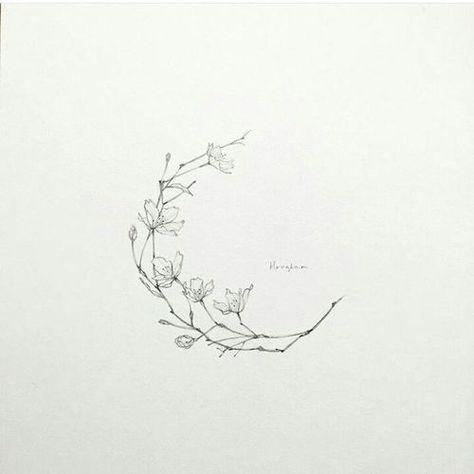 cherry blossom and tattoo image