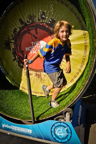 Human Hamster Wheel At Adventures Denver 2012 With Images