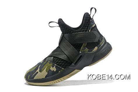 72ce3ba29157 Online Nike LeBron Soldier 12 Sfg  Camo  Black Black-Hazel Rush in ...