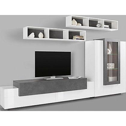 Tecnos Wohnwand Asia Set 4 Tlg Auf Rechnung Kaufen Wohnen Schrankwand Und Tv Wohnwand