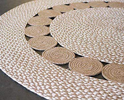 tapis rond tapis jute