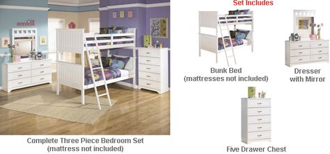 Ashley Lulu Twin Bunk Bed Bedroom Set The Light Airy Cottage