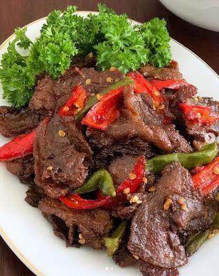 Daging Saus Tiram : daging, tiram, Kumpulan, Resep, Masakan:, Daging, Goreng, Tiram, Daging,, Makanan, Asia,, Masakan