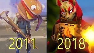 Evolution Of Fortnite 2011 2018 Fortnite Evolution Cool Gifs