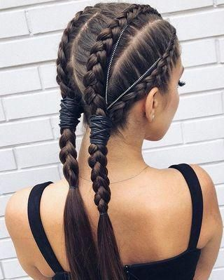 Pigtailed Hair And Collected Get Inspired With These Ideas Braids For Short Hair Braids For Long Hair Long Hair Styles