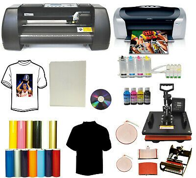 Ad Ebay Url 5in1 Heat Transfer Press 14 Laser Point Vinyl Plotter Printer Ciss Vinyl Tshirts In 2020 Vinyl Cutter Vinyl Tshirts Printer