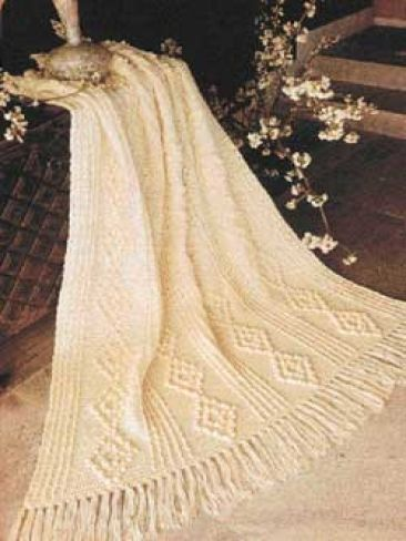 Aran #Crochet Throw: free pattern