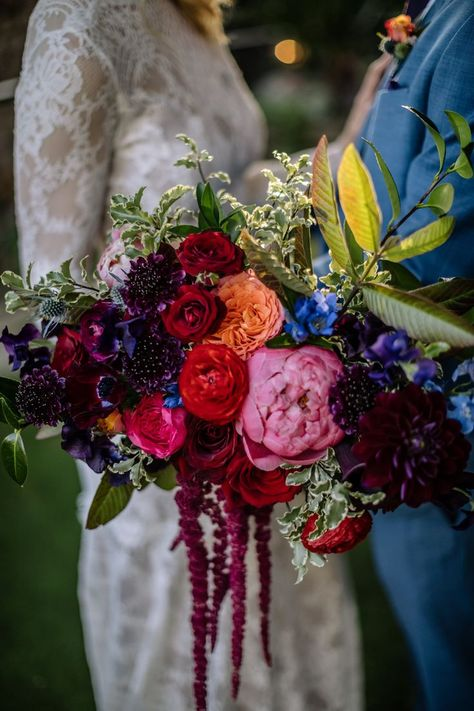 Affordable Colorful Bridal Bouquet Ideas To Try Asap - If you want the perfect bridal bouquet design should consider letting your personality and style come out, not only with the color and flowers that yo. Marie's Wedding, Floral Wedding, Wedding Colors, Wedding Dress, Claire Pettibone, Bridesmaid Bouquet, Wedding Bouquets, Flower Bouquets, Jewel Tone Wedding