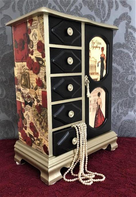 Jewellery Armoire Jewellery Wardrobe Vintage Jewellery Box Musical