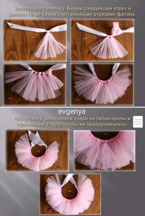 Sewing Kit, Doll Set, Baby Girl Dresses, Baby Dress, Barbie Clothes, Diy Clothes, Diy Tutu, Tutu Tutorial, Flower Diy