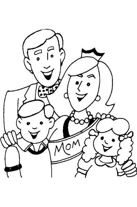 ألبومات صور منوعة ألبوم صور رسومات مفرغة لتعليم الاطفال التلوين Family Coloring Pages Family Coloring Free Kids Coloring Pages